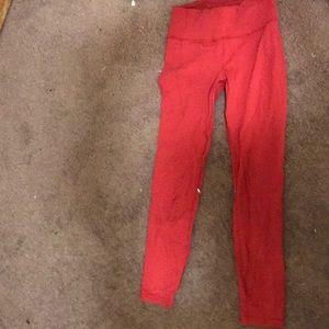 lululemon athletica Pants - Red lululemon leggings